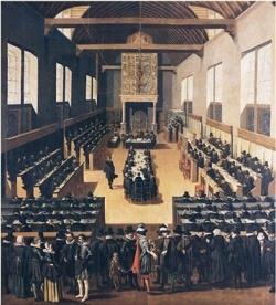 Synod of Dordrecht (1729), by Bernard Picart.