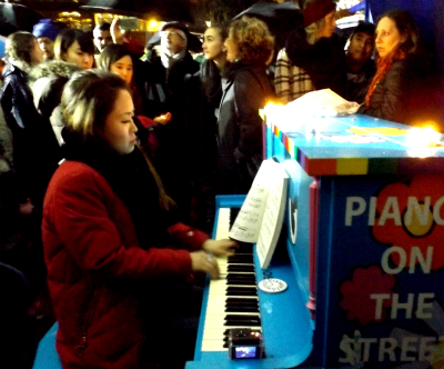 Piano Teachers Federation member Miri Yee playing John Lennon's 'Imagine'.