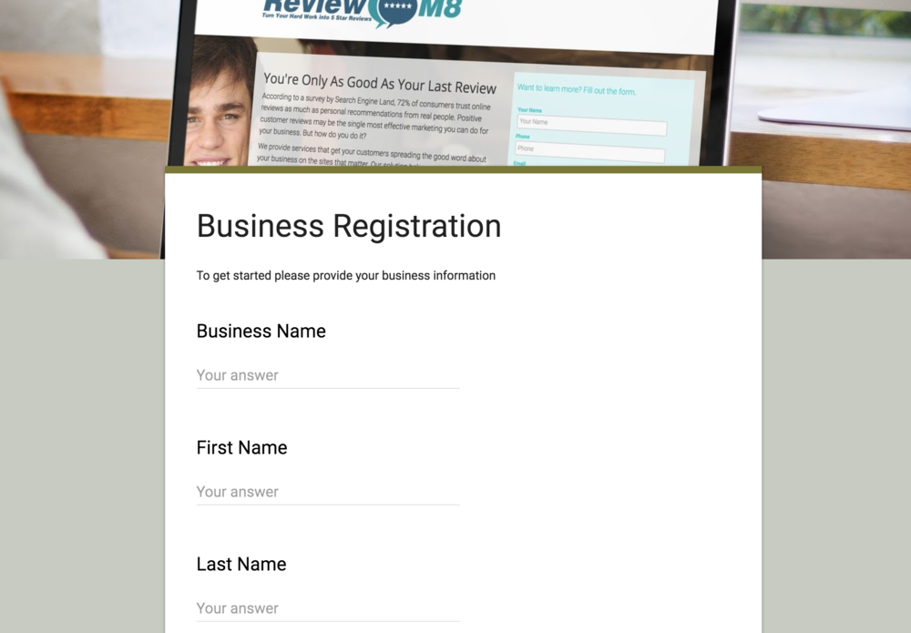Business Registration Form