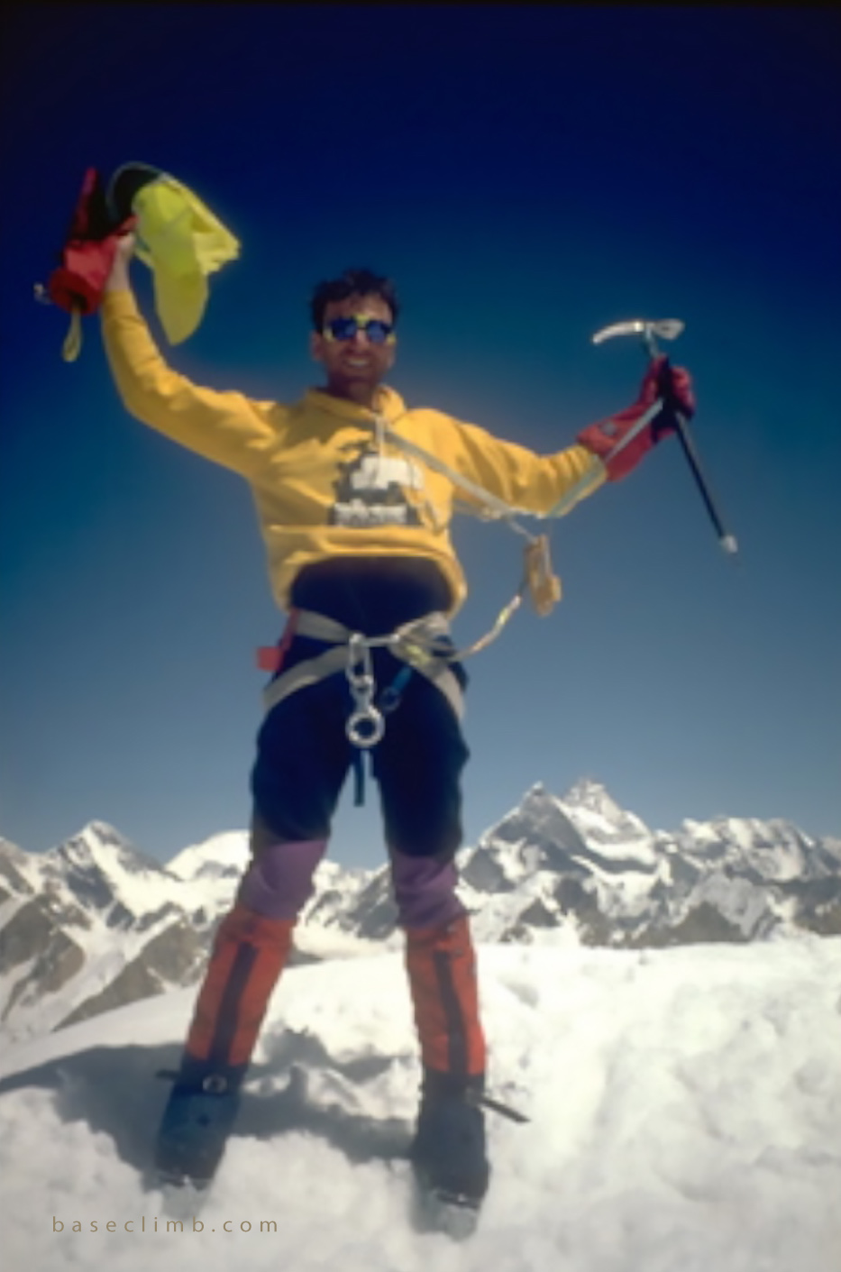 Dr. Glenn Singleman on the summit of The Great Trango Tower