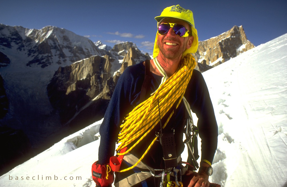 Dr. Glenn Singleman near the summit of Great Trango Tower