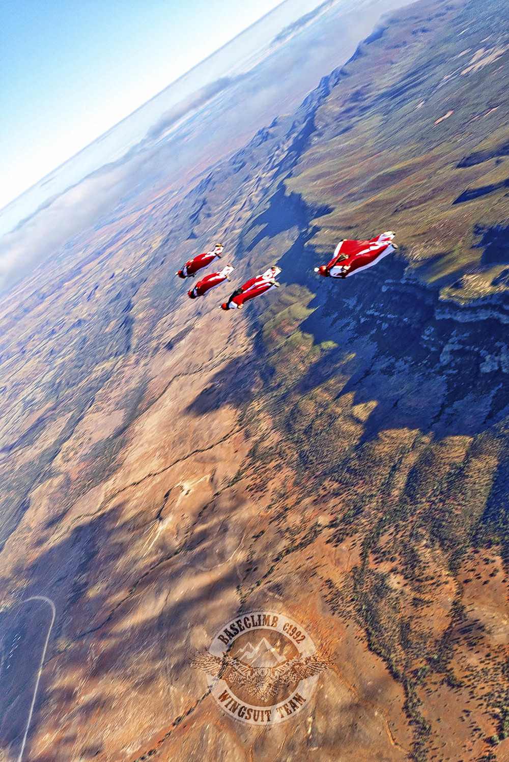 The first Wingsuit Flight over Wilpena Pound in the Flinders Rangers of South Australia