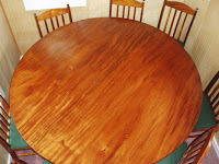 Koa wood heirloom table and chairs
