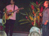 Hawaiian Guitarists and Hula Dancer