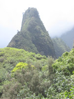 Iao Needle Mountain Peak in Iao Valley State Monument, Maui, Hawaii