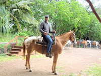 Hana Maui Hawaii horseback riding guide Keoni