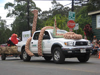 Maui Invasive Species Committee float in the Makawao, Maui, Hawaii, Fourth of July Parade