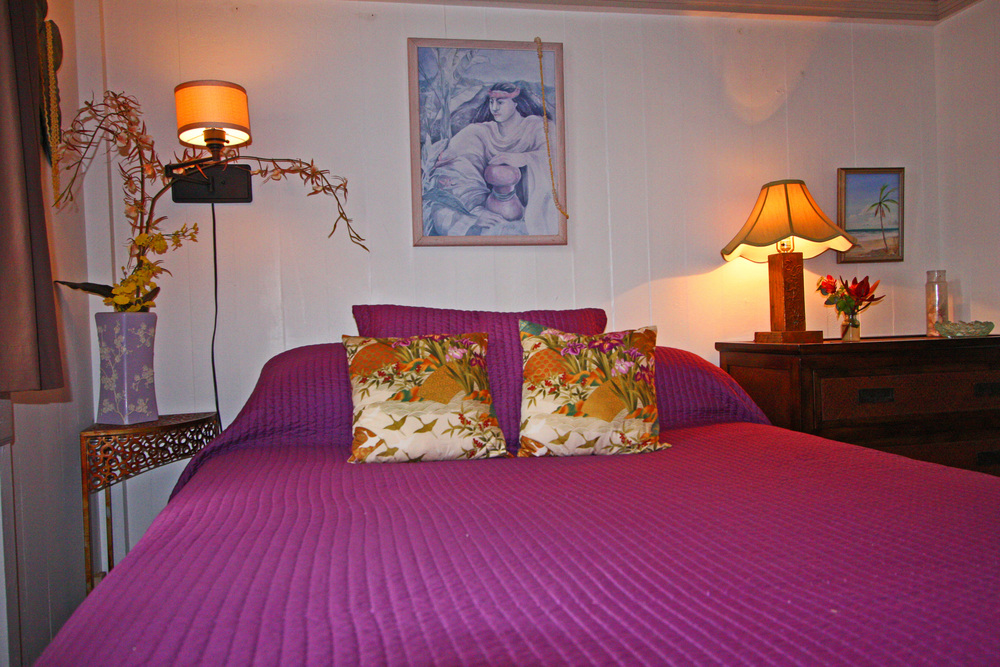 The second bedroom of the kona wing at the Hale Hookipa Inn