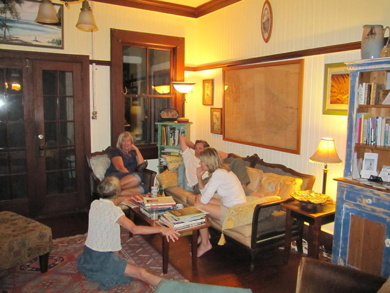 Guests of the Hale Hookipa Inn enjoy the cozy living room