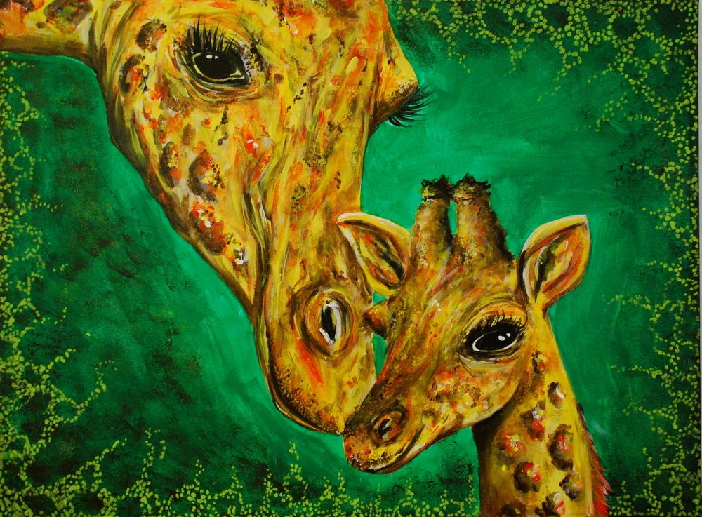 GIRAFFE MOTHER AND BABY.JPG
