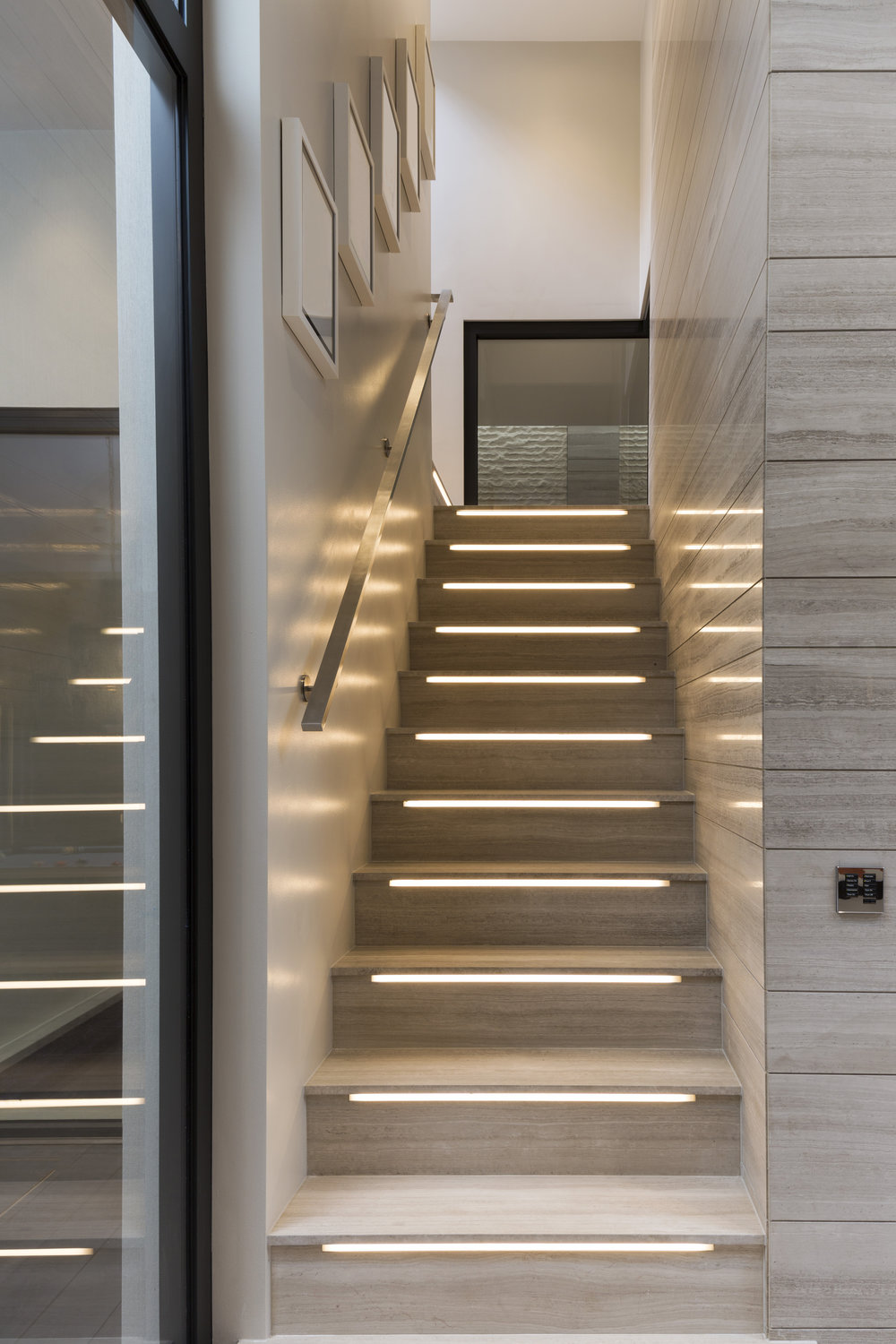 Integrated Linear LED Stair Treatment