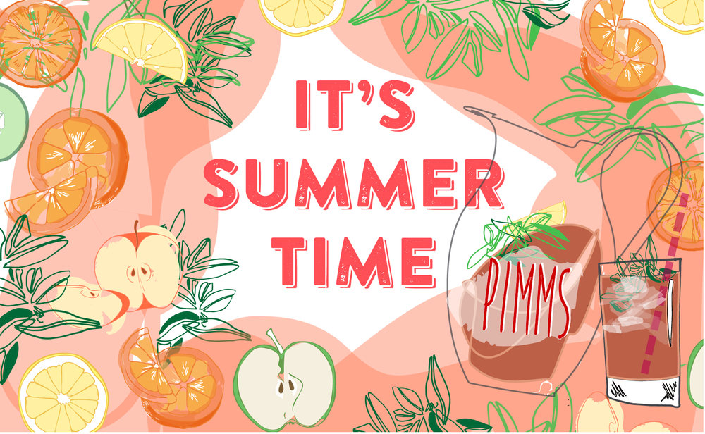 Enjoy a Jug or Glass of our Special Pimms in the garden this summer!