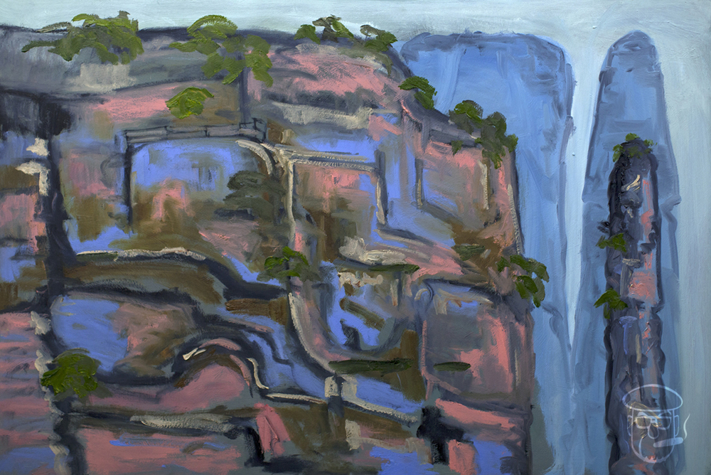 Blue cliff face Zhangjiajie