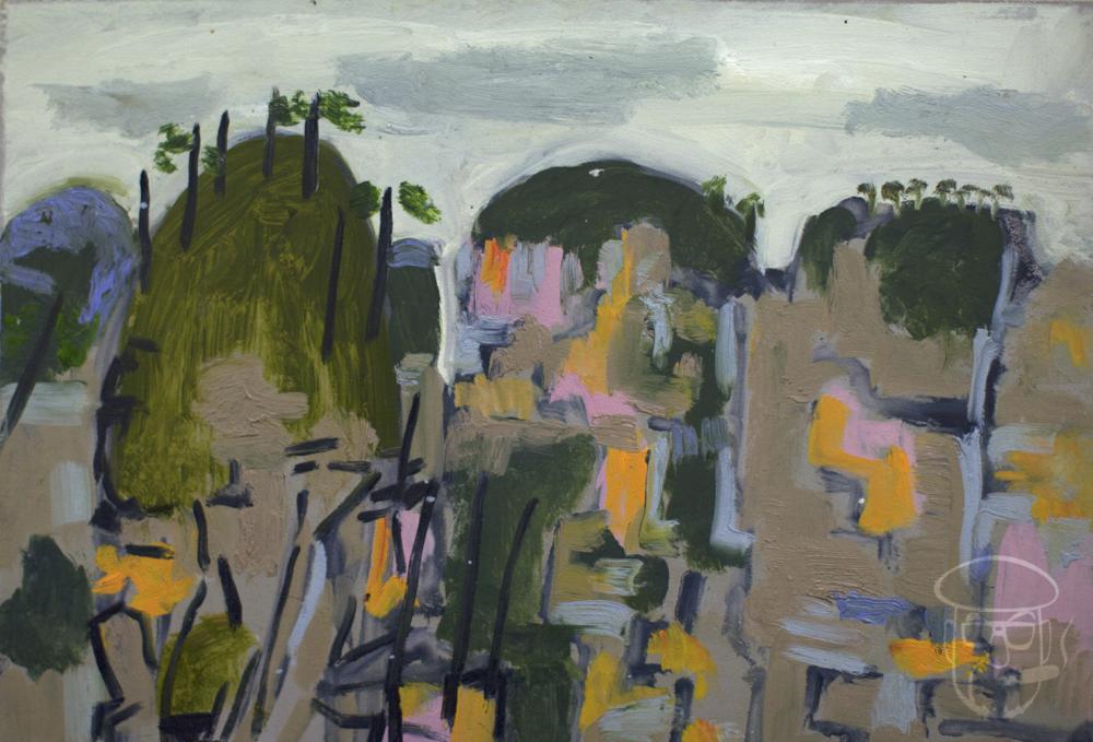 Three Sisters abstraction Zhangjiajie