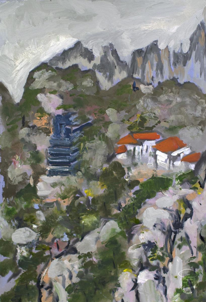 Hotel & Pagoda Huangshan