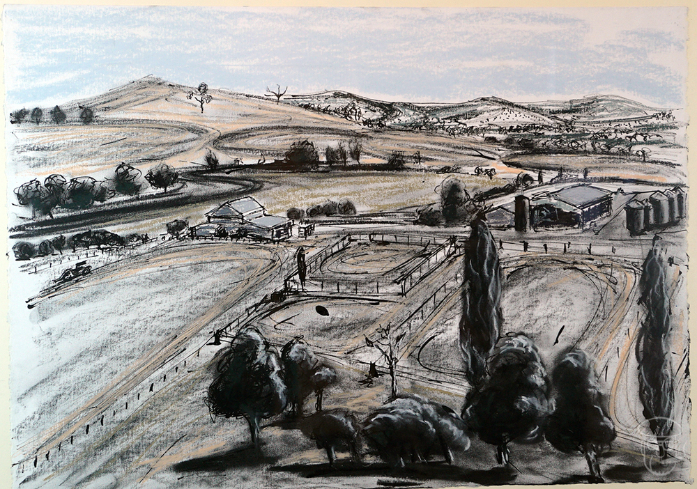 Manela Farm from hilltop