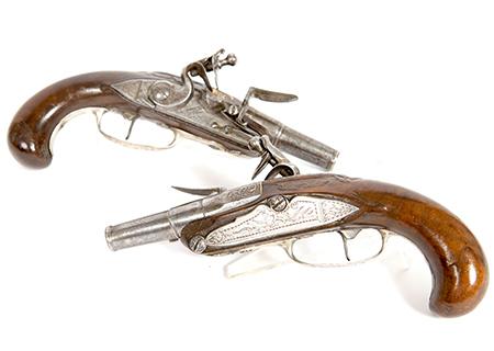 Paire de pistolet de voyage 18ème