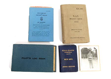 Pilots log book A.L. ALLen - AV009