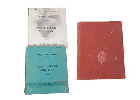 RAF Pilot A.R. HOGWOOD in India, day book, training manual K.I.A. 1944 - AV010