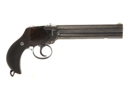 Pistolet Lancaster 2 canons mod. 1885 cal. 476 - HG004