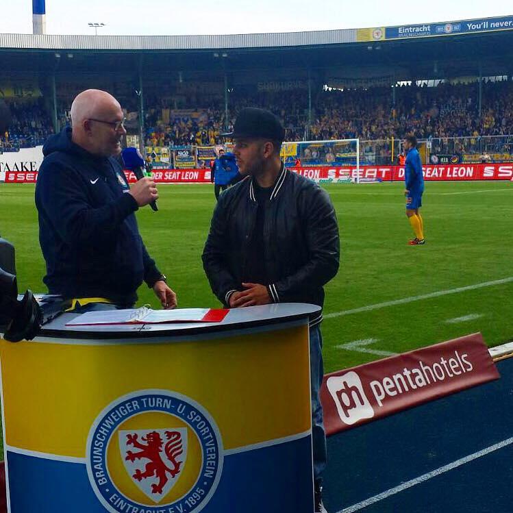 Nico im Interview bei Eintracht Braunschweig