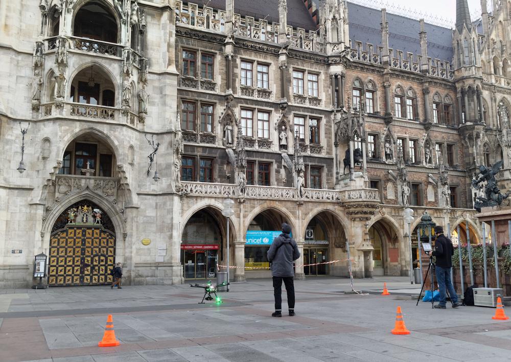 Drohnendreh am Marienplatz