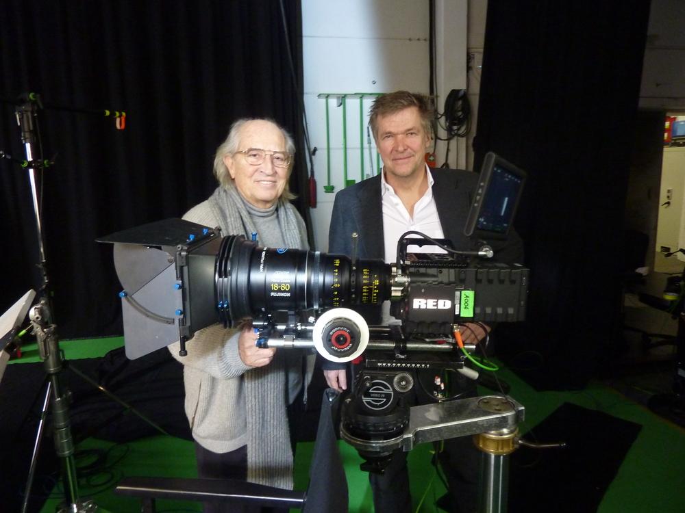 Vittorio Storaro und Michael Hieber in unserem Greenscreen Studio