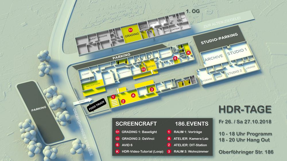Karte des Screencraft Campus - HDR Fachtage