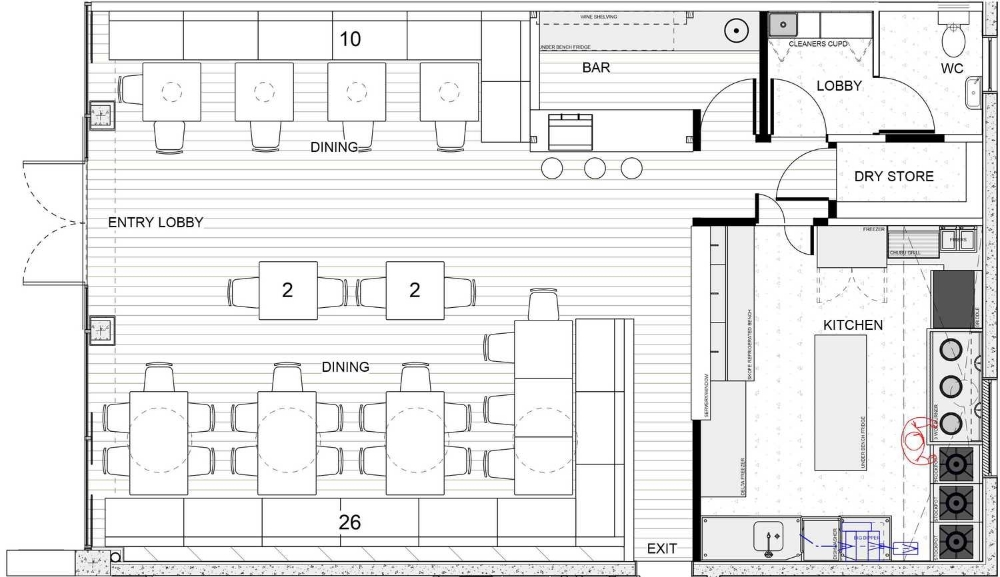 Photo restaurants kitchen layout plan images small
