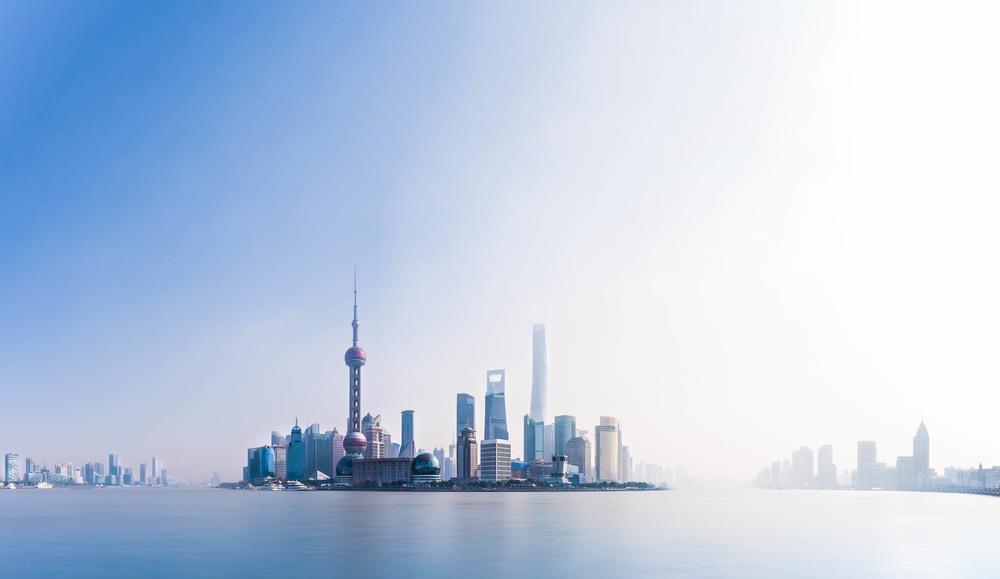 Skyline von Shanghai, China