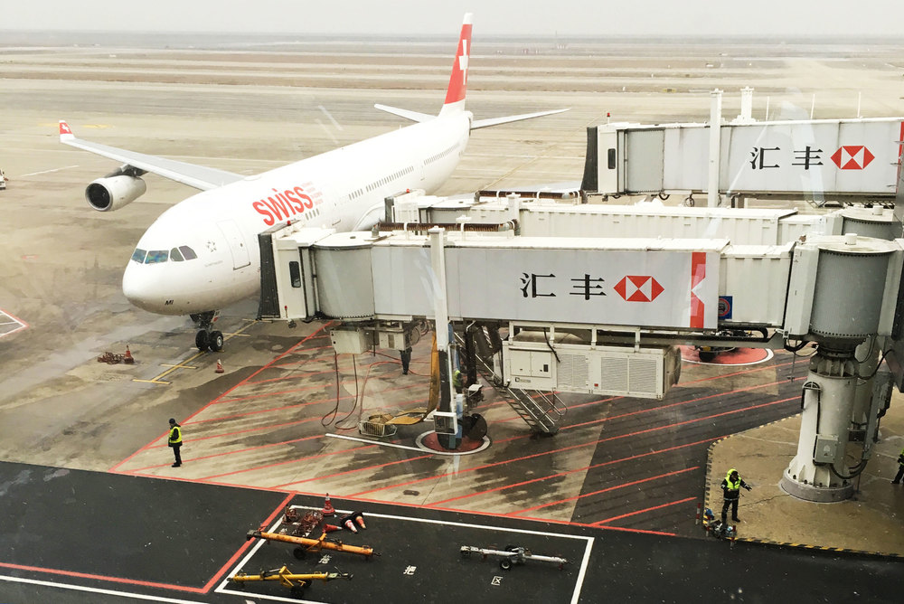 Swiss Airline, Airport Shanghai, China