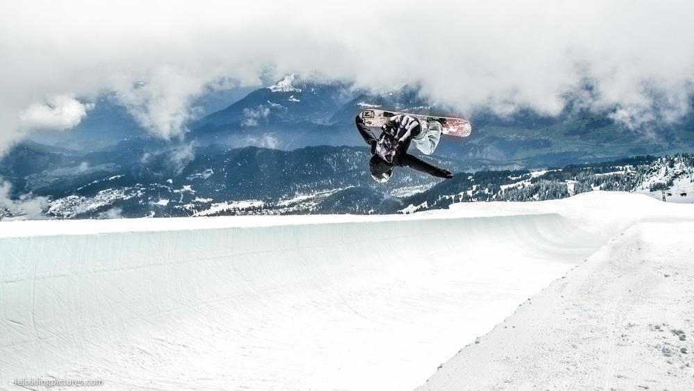 Airtime Superpipe Laax, Schweiz