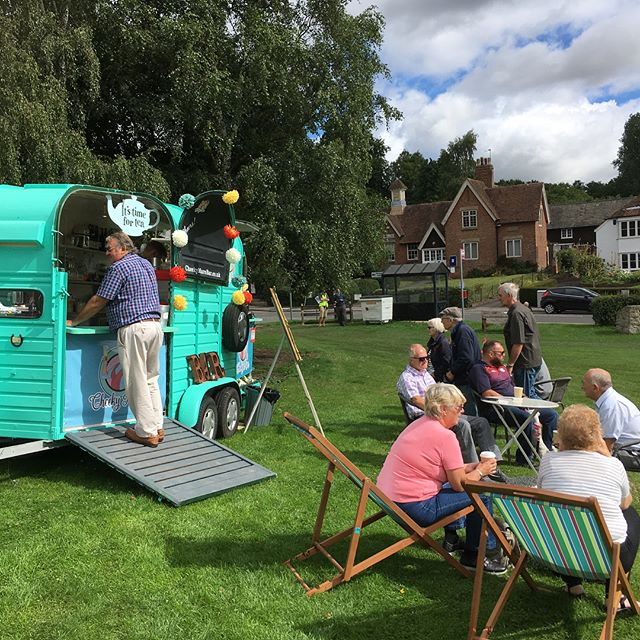 Fantastic day with @jackiecolwell and The Cheeky Mare Bar at The Vintage Car Show on Bearsted Green. Never made THAT many coffees ever!! ☕️