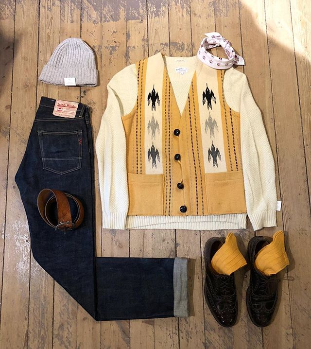 Welcome to the store - open 11-18!🐎 ————————— • Chimayo Vest #Vintage • Knitted Sweater #GantRugger • Selvedge Denim #TripleWorks • Cordovan Shoes #Churchs • Beanie #AmandaChristensen • Belt #Vintage • Bandana #JacobCohen • Cashmere Blend Socks #Falke ————————— Swing by for a look!👖 #Chimayo #Gant #Vintage #Churchs