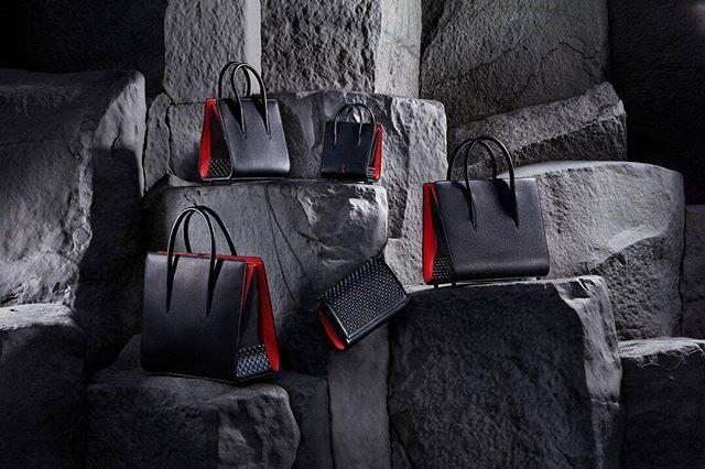 from @louboutinworld -  Form meets function. In four sizes, from Nano to Large and even a Paloma clutch, there's an Ultra Black for every occasion.📸@guillaumefandel - #iceland #vik #reynisfjara #basaltic #column #on_location