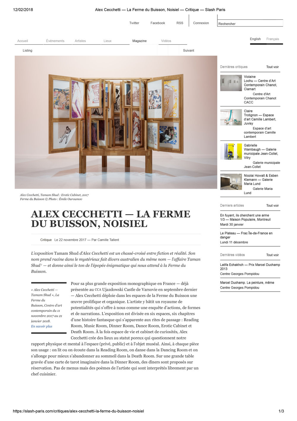 Alex Cecchetti — La Ferme du Buisson, Noisiel — Critique — Slash Paris-1.jpg
