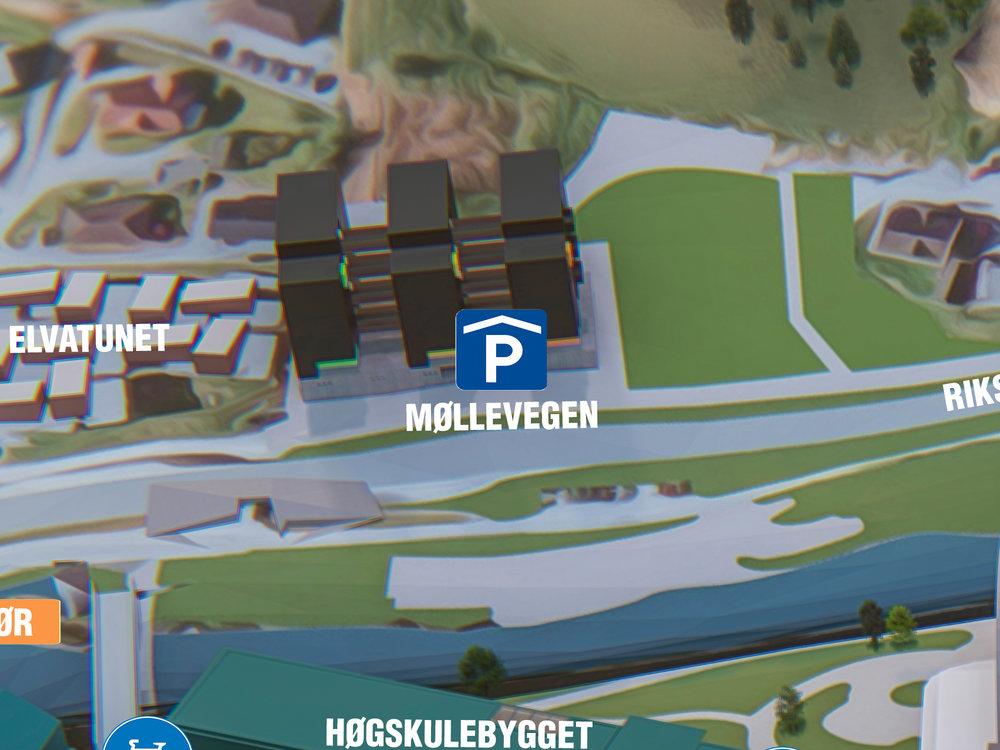 P-Hus Møllevegen - Beste parkering om du skal til: Høgskulen på Vestlandet