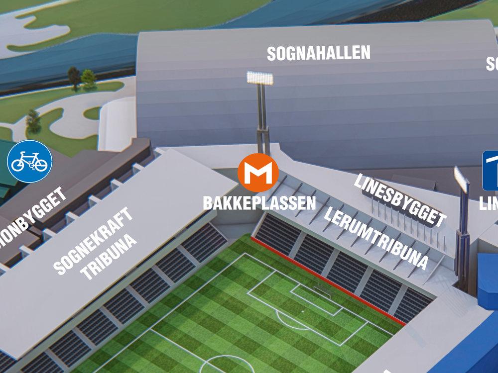 Bakkeplassen - Til minne om Sogndal-legenda Svein Bakke er det laga ein møteplass som du finn inne i 1.etg i stadionbygget. Dette er eit sentralt møtepunkt om du skal til bedrifter på Campus, innovasjonsbygget eller på fotballkamp. Møterommet Flo-stova ligg like ved sida av.