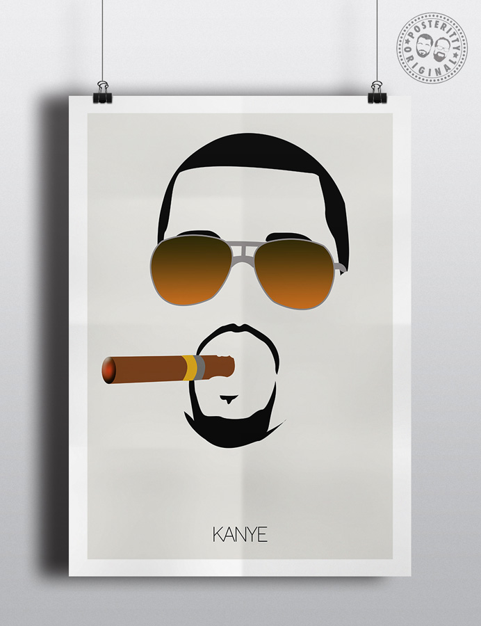 kanye west minimalist hair poster posteritty