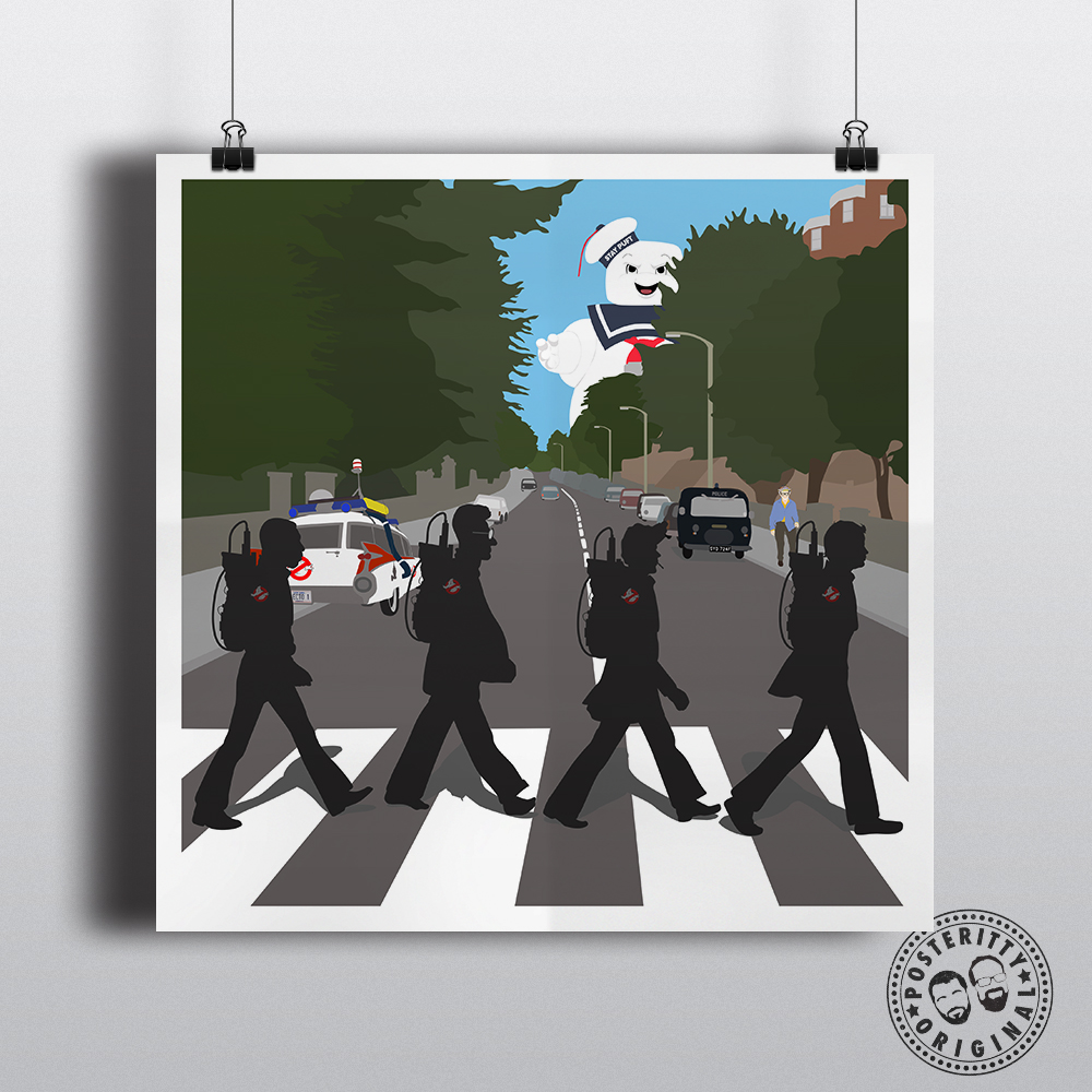 ghostbusters abbey road beatles parody posteritty