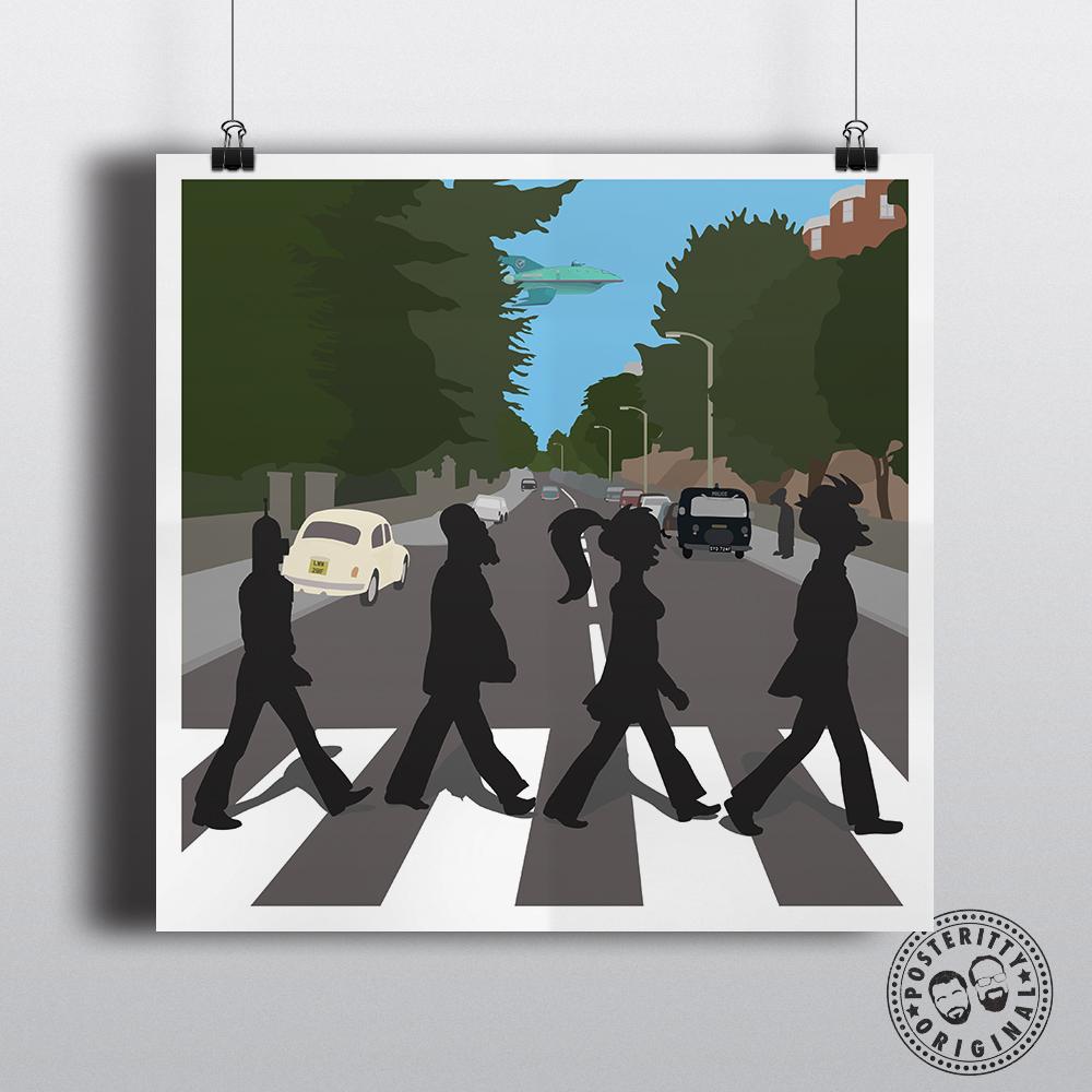Abbey Road Futurama Beatles Posteritty
