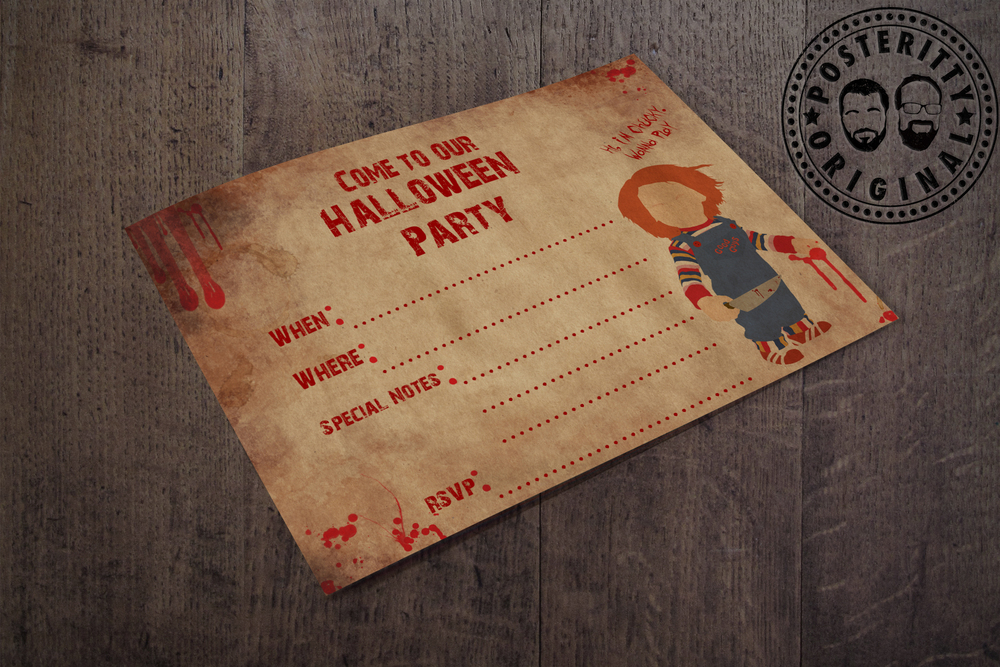 Downloads posteritty chucky childs play minimalist halloween invite by posteritty stopboris Images