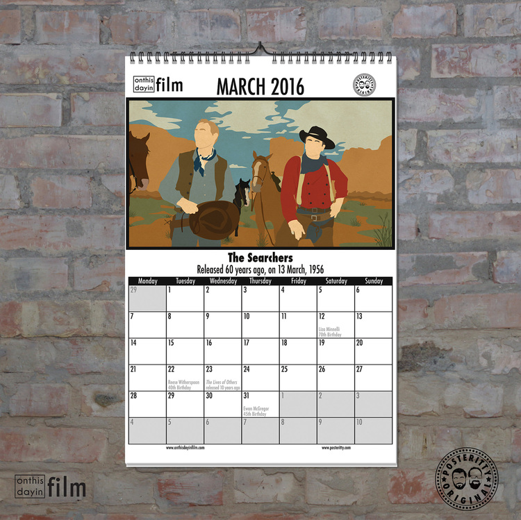 Greeting cards calendars posteritty 2016 minimalist movie calendar on this day in film m4hsunfo