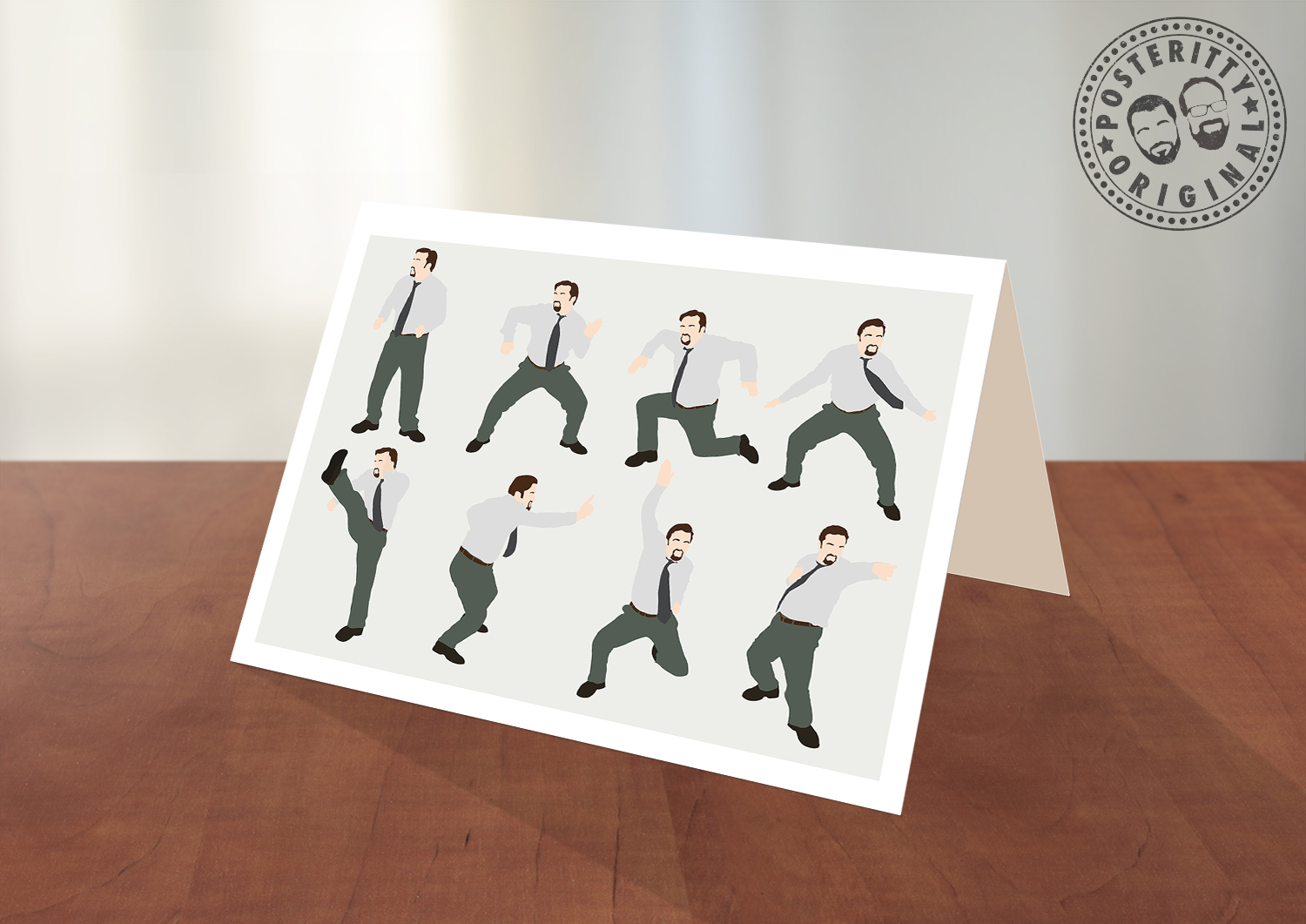David Brent The Office Dance Greeting Card Posteritty