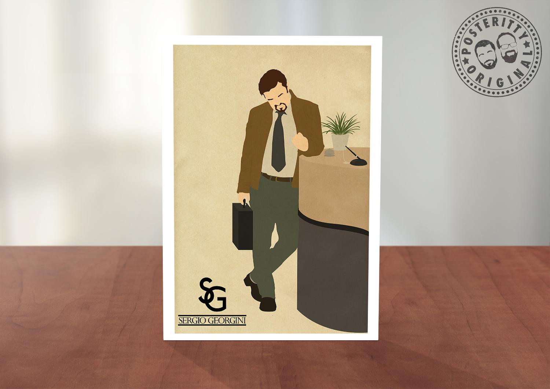 David Brent The Office Sergio Georgini Greeting Card Posteritty