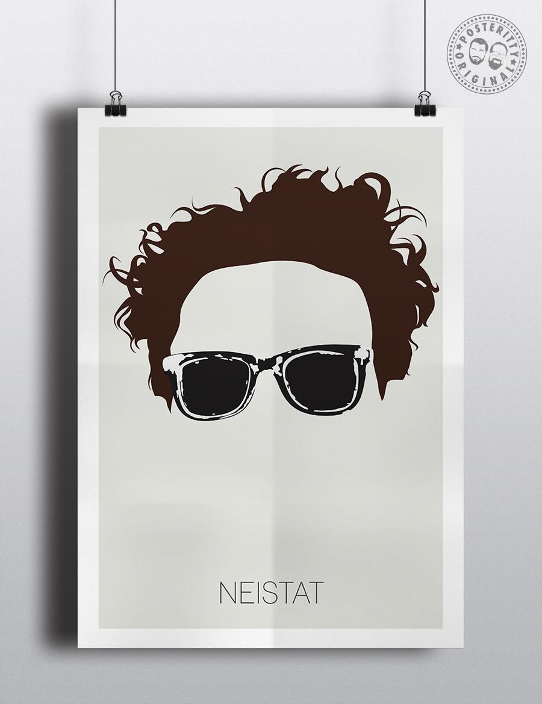 401ec76f8b7 Casey Neistat - Minimalist Hair and Sunglasses Poster — Posteritty