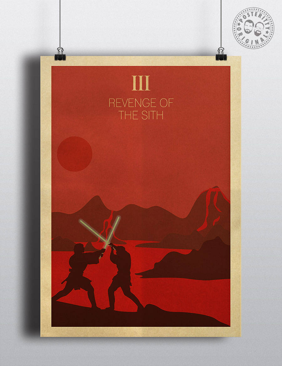 Star Wars Episode Iii Revenge Of The Sith Minimalist Movie Poster Posteritty