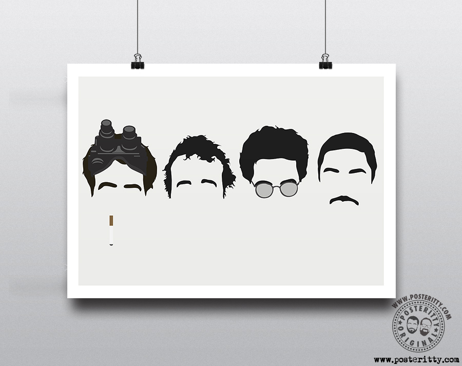 Ghostbusters 1984 Minimalist Heads Movie Poster Posteritty