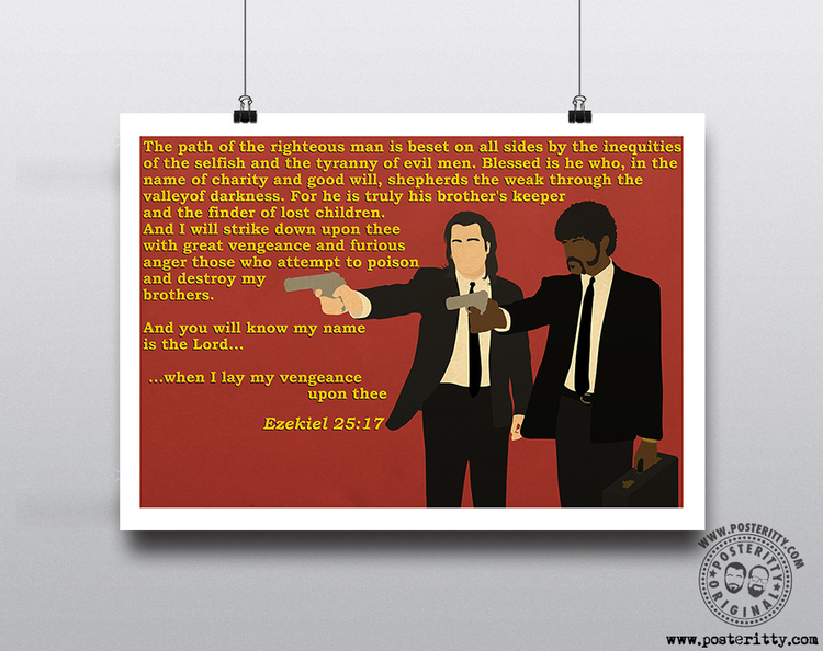 Pulp Fictopn Quote Minimalist Posteritty Poster Fiction