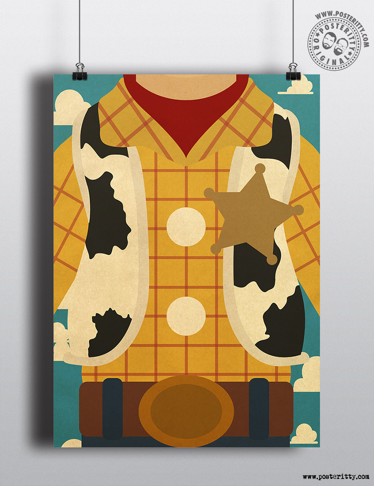 Woody (Toy Story) - Minimal Torso Poster — Posteritty